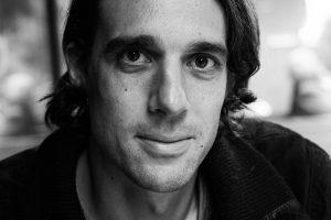 Portrait of Samuel Christen photographied by Natalia Ciric, black and white photo